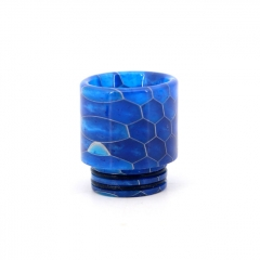 Clrane 810 Replacement Snake Skin Style Resin Drip Tip Long - Blue
