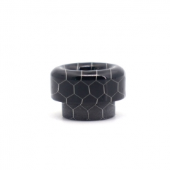 Clrane 810 Replacement Snake Skin Style Resin Drip Tip - Black