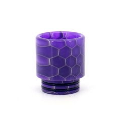 Clrane 810 Replacement Snake Skin Style Resin Drip Tip Long - Purple