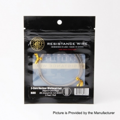 Authentic ThunderHead Creations THC 3-Core Nuclear Warhead Ni80 Resistance Wire - 28GA x 3 + (38 x 28)GA (5 Feet)