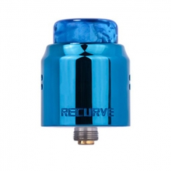 Authentic Wotofo Recurve Dual 24mm RDA Rebuildable Dripping Atomizer w/ BF Pin - Blue
