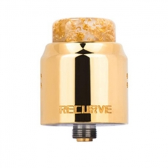 Authentic Wotofo Recurve Dual 24mm RDA Rebuildable Dripping Atomizer w/ BF Pin - Gold
