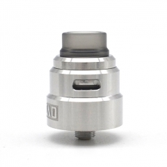 SXK Reload S Style 24mm RDA Rebuildable Dripping Atomizer w/BF Pin - Silver
