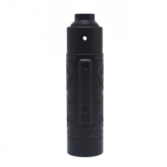 Vazzling Pur Slam Piece 30mm 18650/20700/21700/20650 Hybrid Mechanical Mod (Engraving Version) w/Shot RDA - Black