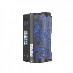 Authentic DOVPO Topside Dual 18650 200W TC VW APV Squonk Box Mod 10ml - Carbon Blue