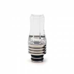 Replacement 510 Acrylic Flat Drip Tip - White