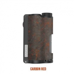 Authentic DOVPO Topside Dual 18650 200W TC VW APV Squonk Box Mod 10ml - Carbon Red