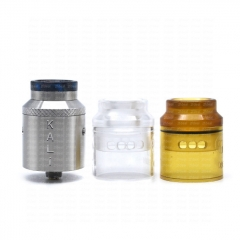 (Ships from Germany)ULTON Kali M Style 25mm RDA Rebuildable Dripping Atomizer w/BF Pin - Silver