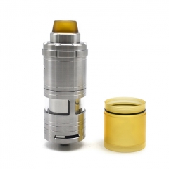 (Ships from Germany)ULTON VG V6S 23mm 316SS RTA Rebuildable Tank Atomizer 5.5ml w/Logo - Silver