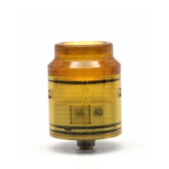 Vazzling Kali Style 25mm RDA Rebuildable Dripping Atomizer w/BF Pin - Yellow