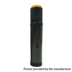 Kennedy Vindicator 18650/20700/21700 Style Carbon Fiber Hybrid Mechanical Mod + Kennedy 25 RDA Kit - Full Black