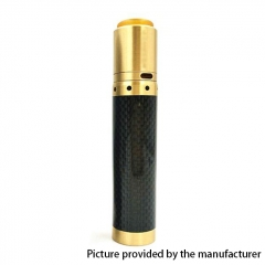 Kennedy Vindicator 18650/20700/21700 Style Carbon Fiber Hybrid Mechanical Mod + Kennedy 25 RDA Kit - Black Brass