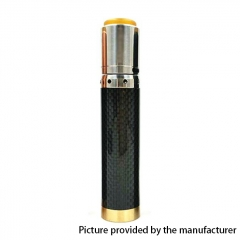 Kennedy Vindicator 18650/20700/21700 Style Carbon Fiber Hybrid Mechanical Mod + Kennedy 25 RDA Kit - Black SS