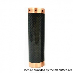Kennedy Vindicator 18650/20700/21700 Style Carbon Fiber Hybrid Mechanical Mod - Black Copper