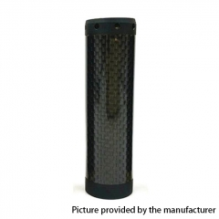 Kennedy Vindicator 18650/20700/21700 Style Carbon Fiber Hybrid Mechanical Mod - Full Black