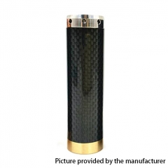 Kennedy Vindicator 18650/20700/21700 Style Carbon Fiber Hybrid Mechanical Mod - Black Silver
