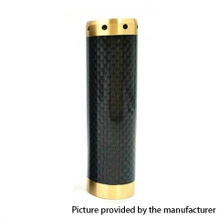 Kennedy Vindicator 18650/20700/21700 Style Carbon Fiber Hybrid Mechanical Mod - Black Brass