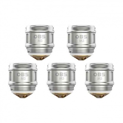 Authentic OBS Cube Replacement M3 Mesh Coil Head Core for OBS Cube X Kit (50~70W) - 0.15ohm (5 PCS)