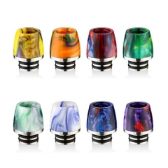 510 Cone Style SS+ Resin Drip Tip 13mm 1pc - Random Color