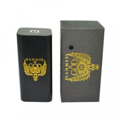 (Ships from Germany)Hammer of God v3 Style Parallel-Series  Mechanical Mod - Black