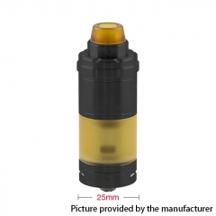 (Ships from Germany)ULTON VG V6S 25mm 316SS RTA Rebuildable Tank Atomizer  w/Logo - Black