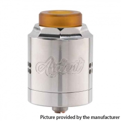Authentic Timesvape Ardent RDA 27mm Rebuildable Dripping Atomizer - Polished Silver