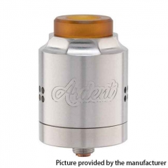 Authentic Timesvape Ardent RDA 27mm Rebuildable Dripping Atomizer - Brushed Silver