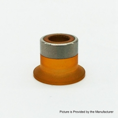 Coppervape Hussar Project X MTL RTA Replacement Drip Tip 9.2mm - Silver + Brown