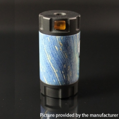 Authentic Ultroner Mini Stick Stablized Wood+ SS Tube Mechanical Mod 18350 - Black + Blue