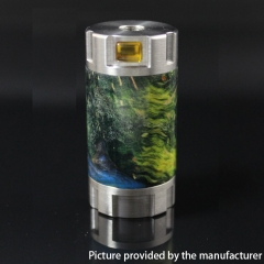 Authentic Ultroner Mini Stick Stablized Wood+ SS Tube Mechanical Mod 18350 - Silver + Yellow