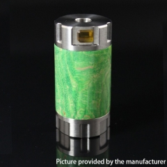 Authentic Ultroner Mini Stick Stablized Wood+ SS Tube Mechanical Mod 18350 - Silver + Green