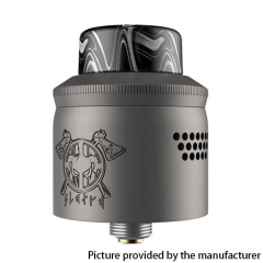 Authentic MECHLYFE x AmbitionZ Vaper Slatra RDA Rebuildable Dripping Atomizer w/BF Pin 25mm - Gun Metal