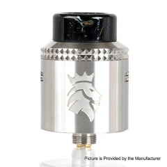 Authentic Kaees Alexander 24mm RDA Rebuildable Dripping Atomizer w/ BF Pin - Silver