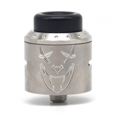 Exile Style 25mm RDA Rebuildable Dripping Atomizer w/BF Pin - Silver