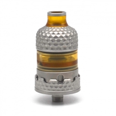 Vazzling Hussar Project X Style 316SS 22mm RTA Rebuildable Tank Atomizer 2ml Knurling Verison - Silver