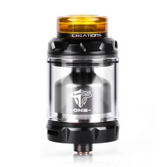 Authentic THC Tauren One 24mm RTA Rebuildable Tank Atomizer 4.5ml - Black