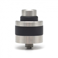 Apex Style 22mm RDA Rebuildable Dripping Atomizer w/BF Pin - Silver