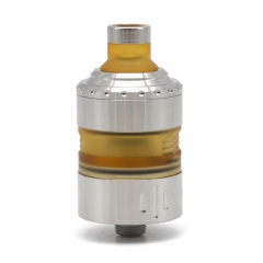 Coppervape Hussar Project X Style 316SS 22.5mm MTL RTA Rebuildable Tank Atomizer 2ml - Matte Silver
