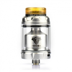 Authentic THC Tauren One 24mm RTA Rebuildable Tank Atomizer 4.5ml - Silver