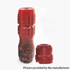 Titan Style Mechanical 21700 Tube Mod + Kennedy 24 Titan Style Cap - Red