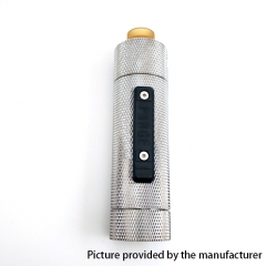 Vazzling Pur Slam Piece 30mm 18650/20700/21700/20650 Hybrid Mechanical Mod (Knurling Version) w/Shot RDA - Silver
