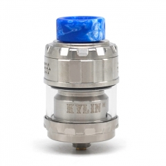 (Ships from Germany)Kylin M Style 24mm RTA Rebuildable Tank Atomizer 3ml/4.5ml  - Silver