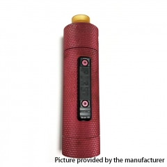 Vazzling Pur Slam Piece 30mm 18650/20700/21700/20650 Hybrid Mechanical Mod (Knurling Version) w/Shot RDA - Red