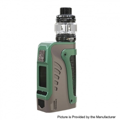 Authentic Wismec Reuleaux Tinker2 200W TC VW APV IP67 Waterproof Box Mod w/TROUGH Tank 6.5ml/0.35/0.2ohm Kit - Titanium Gray
