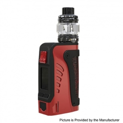 Authentic Wismec Reuleaux Tinker2 200W TC VW APV IP67 Waterproof Box Mod w/TROUGH Tank 6.5ml/0.35/0.2ohm Kit - Black Red
