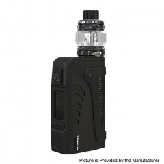Authentic Wismec Reuleaux Tinker2 200W TC VW APV IP67 Waterproof Box Mod w/TROUGH Tank 6.5ml/0.35/0.2ohm Kit - Black