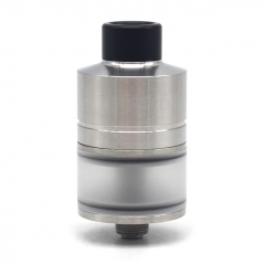 SXK WICK'T WICKT Style 316SS 22mm RDTA Rebuildable Dripping Tank Atomizer w/ BF Pin 2ml - Silver