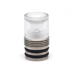 Vazzling Four One Five 415 RTA Replacement 510 Drip Tip 22mm - Translucent + Silver