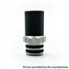 Kindbright PC + 316 Stainless Steel Hybrid 510 Drip Tip for 900 BF Styled RDA - Black
