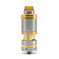 (Ships from Germany)Vazzling VG V6S RTA Style 23mm RTA Rebuildable Tank Atomizer 5.5ml w/Logo - Silver Gold